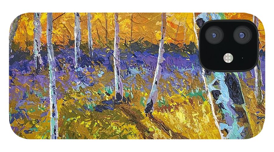 Aspen IPhone 12 Case featuring the painting All In The Golden Afternoon by Hunter Jay