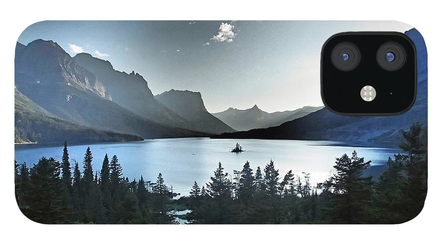 St. Mary Lake IPhone 12 Case featuring the photograph Alpine Dusk by Stephanie McGuire