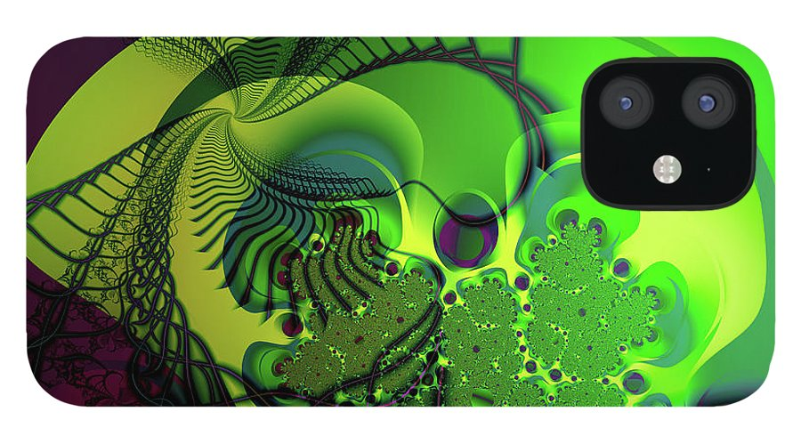Fractal IPhone 12 Case featuring the digital art Amoeba by Frederic Durville