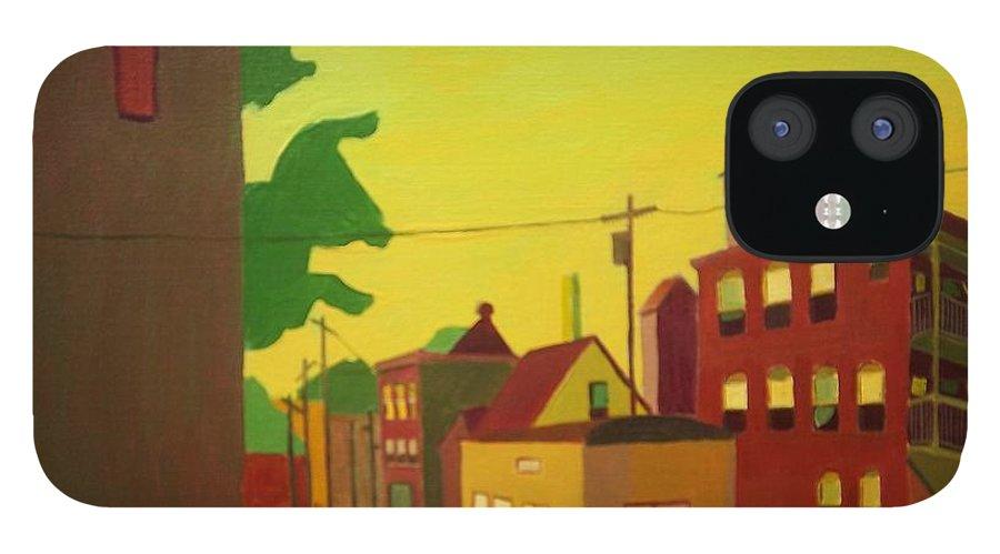 Jamaica Plain IPhone 12 Case featuring the painting Amory Street Jamaica Plain by Debra Bretton Robinson