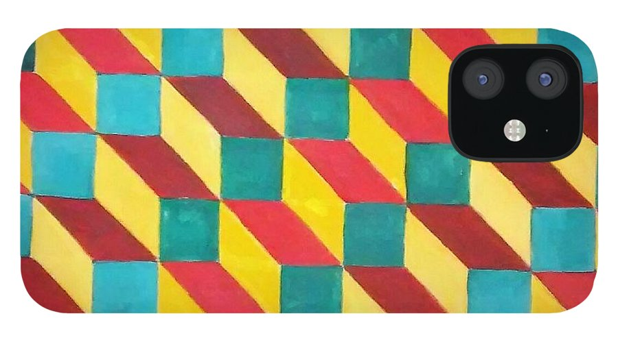 Rasta Art iPhone 12 Case featuring the painting Ancient Rasta by Andrew Johnson