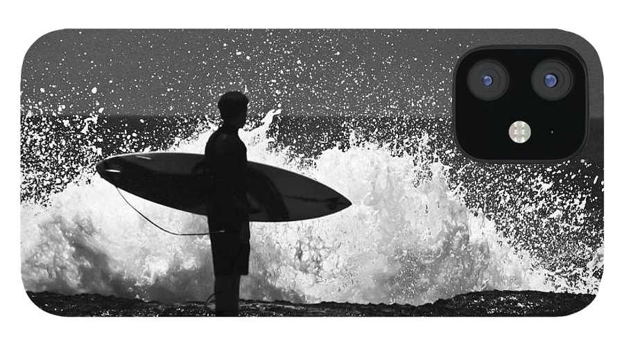Surfer IPhone 12 Case featuring the photograph Anticipation by Sheila Smart Fine Art Photography