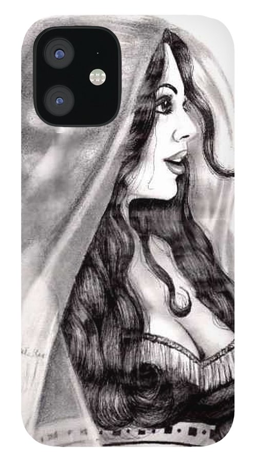 Figure IPhone 12 Case featuring the drawing Arabian Beauty by Scarlett Royal