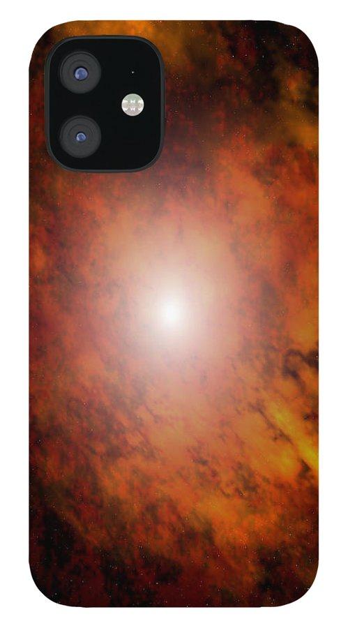 Artrage Artrageus Space Nebula Scifi iPhone 12 Case featuring the digital art Arca Nebula by Robert aka Bobby Ray Howle