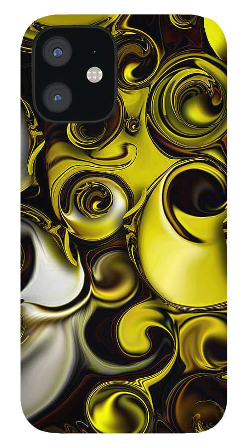 Decorative Art IPhone Case featuring the digital art Architectonic Morphism by Carmen Fine Art
