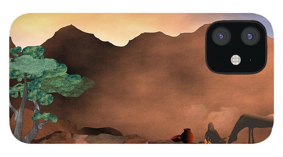 Arizona IPhone 12 Case featuring the digital art Arizona Sky by Arline Wagner