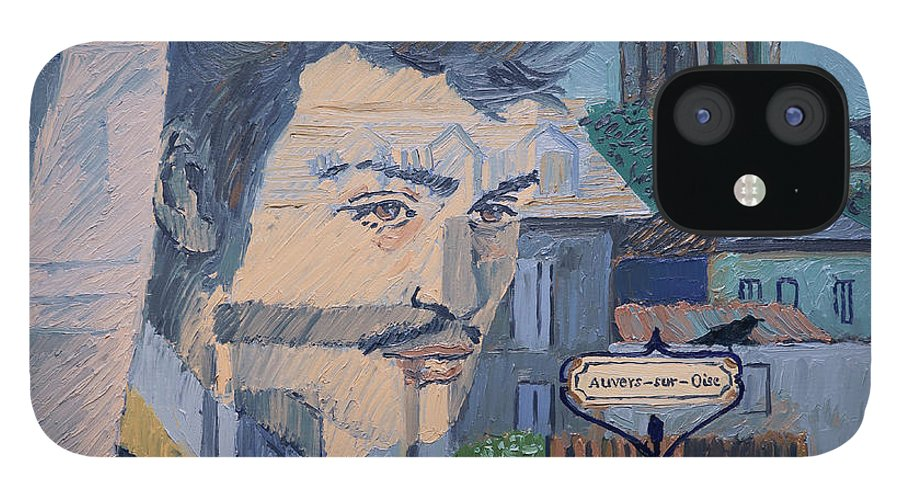 iPhone 12 Case featuring the painting Armand On The Train by Aleksandra Siudek