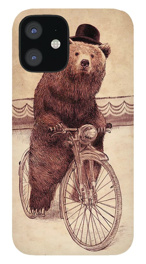 Bear IPhone 12 Case featuring the drawing Barnabus by Eric Fan