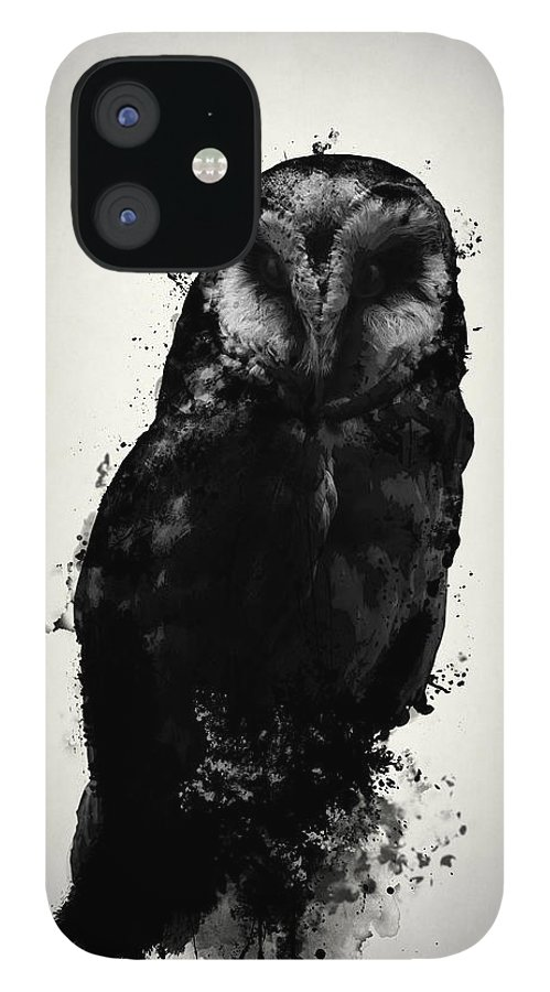 Owl iPhone 12 Case featuring the mixed media The Owl by Nicklas Gustafsson