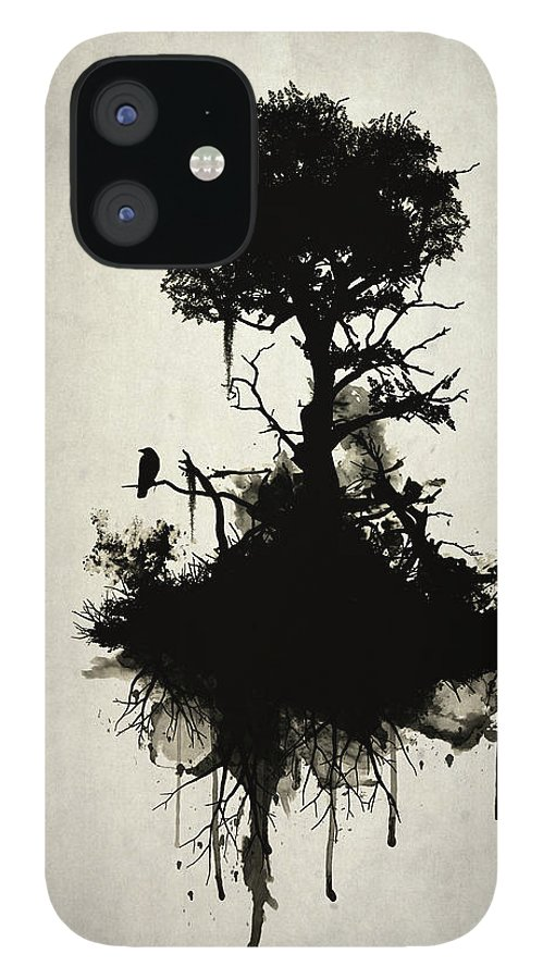Nature iPhone 12 Case featuring the painting Last Tree Standing by Nicklas Gustafsson