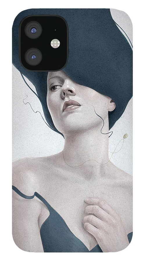 Woman IPhone 12 Case featuring the digital art Ascension by Diego Fernandez