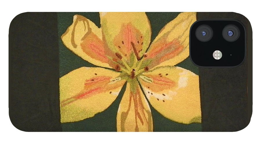 Nature IPhone 12 Case featuring the mixed media Asiatic Lily by Jenny Williams