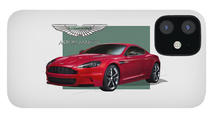 �aston Martin� By Serge Averbukh IPhone 12 Case featuring the photograph Aston Martin D B S V 12 with 3 D Badge by Serge Averbukh