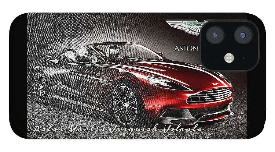 �wheels Of Fortune� Collection By Serge Averbukh IPhone 12 Case featuring the photograph Aston Martin Vanquish Volante by Serge Averbukh