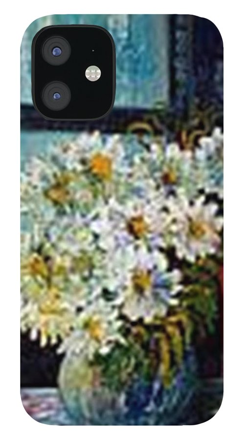 By The Window IPhone 12 Case featuring the painting At Home by Carol P Kingsley
