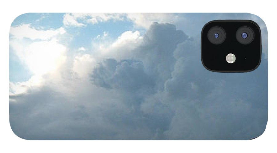 Sky IPhone 12 Case featuring the photograph Atmospheric Barcode 19 7 2008 16 by Donald Burroughs