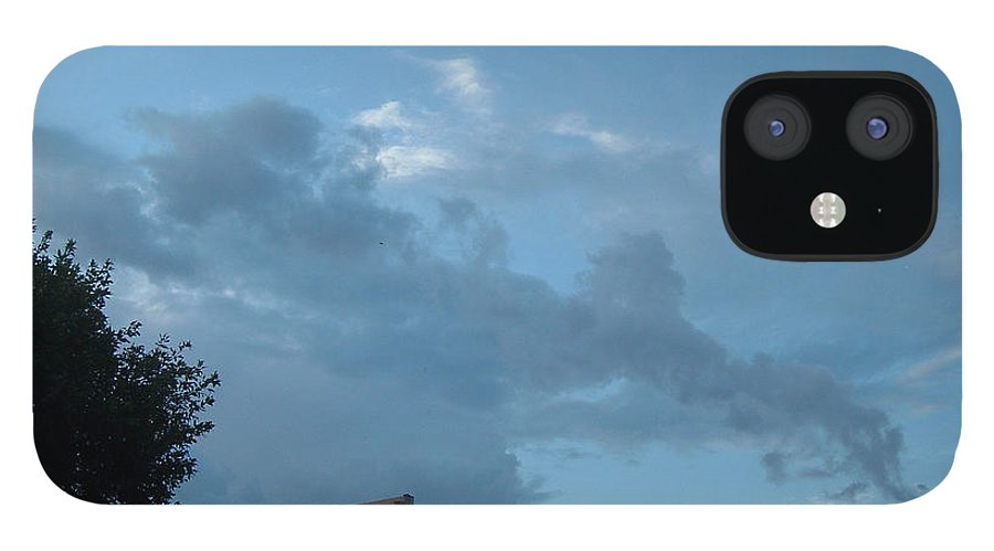 Sky IPhone 12 Case featuring the photograph Atmospheric Barcode 19 7 2008 18 or Titan by Donald Burroughs