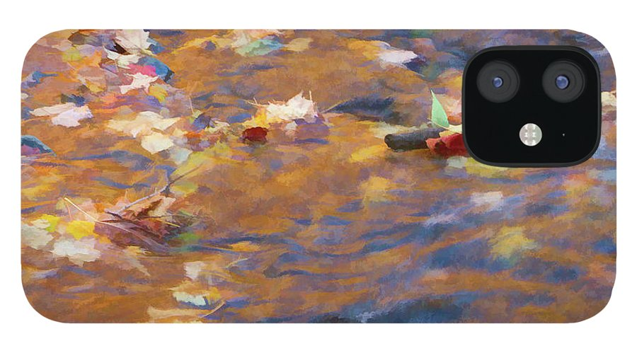 Abstracts iPhone 12 Case featuring the photograph Autumn Passing by Marilyn Cornwell