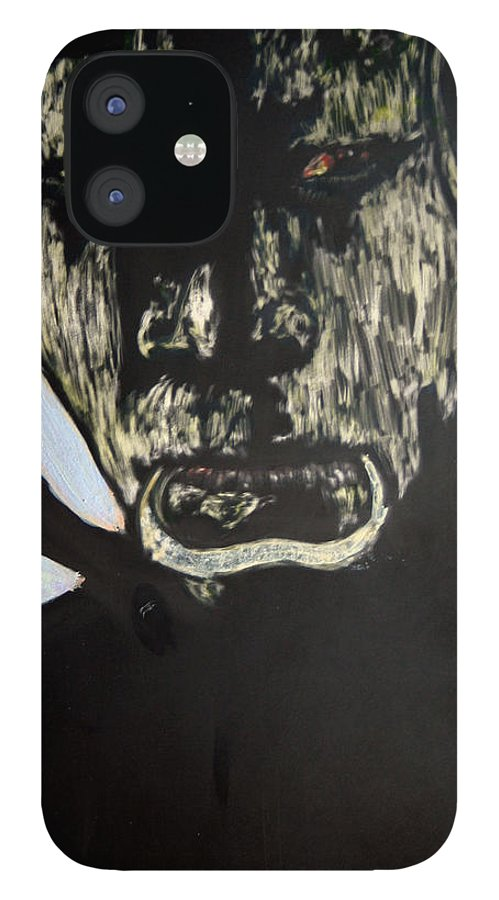 IPhone 12 Case featuring the mixed media Avenging Angel by Chester Elmore