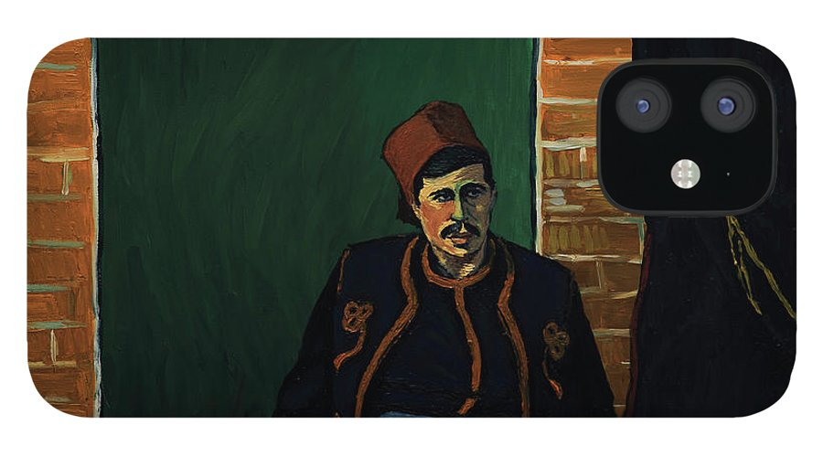 IPhone 12 Case featuring the painting Ay sir by Natasa Efstathiadi