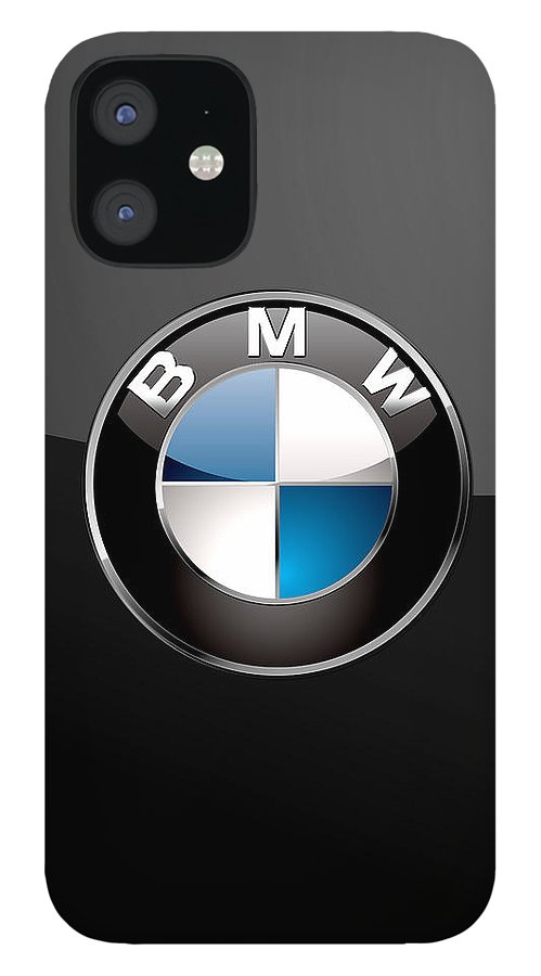 �wheels Of Fortune� Collection By Serge Averbukh IPhone 12 Case featuring the photograph B M W 3 D Badge on Black by Serge Averbukh