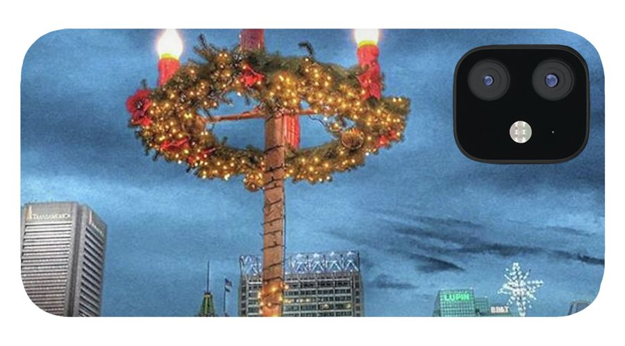 City IPhone 12 Case featuring the photograph #baltimore #mgmart #mariannamills by Marianna Mills