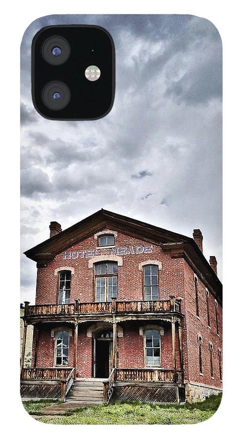 Bannack Montana IPhone 12 Case featuring the digital art Bannack Mt. 7 by Susan Kinney