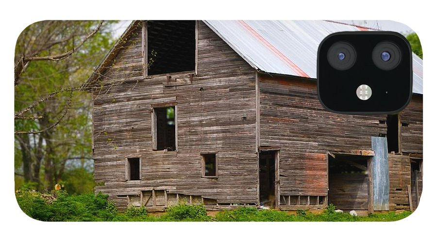 Old Barn IPhone 12 Case featuring the photograph Barn in 3D by Toni Berry