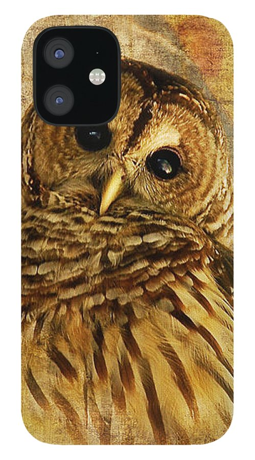 Owl IPhone 12 Case featuring the photograph Barred Owl by Lois Bryan