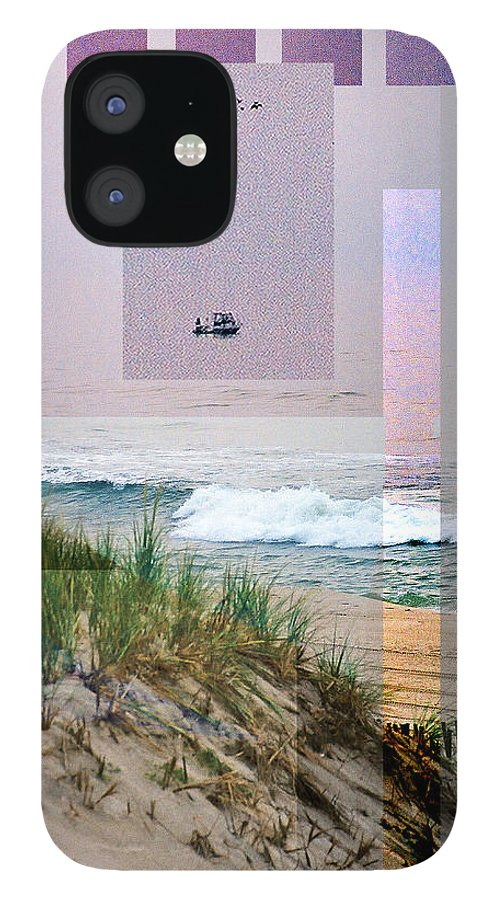Landscape IPhone 12 Case featuring the digital art Beach Collage 3 by Steve Karol
