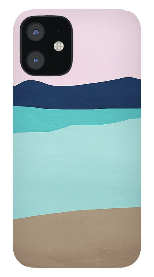 Beach IPhone 12 Case featuring the mixed media Beach Cove- Art by Linda Woods by Linda Woods