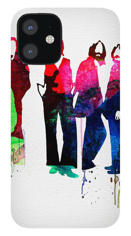 Beatles IPhone 12 Case featuring the painting Beatles Watercolor by Naxart Studio