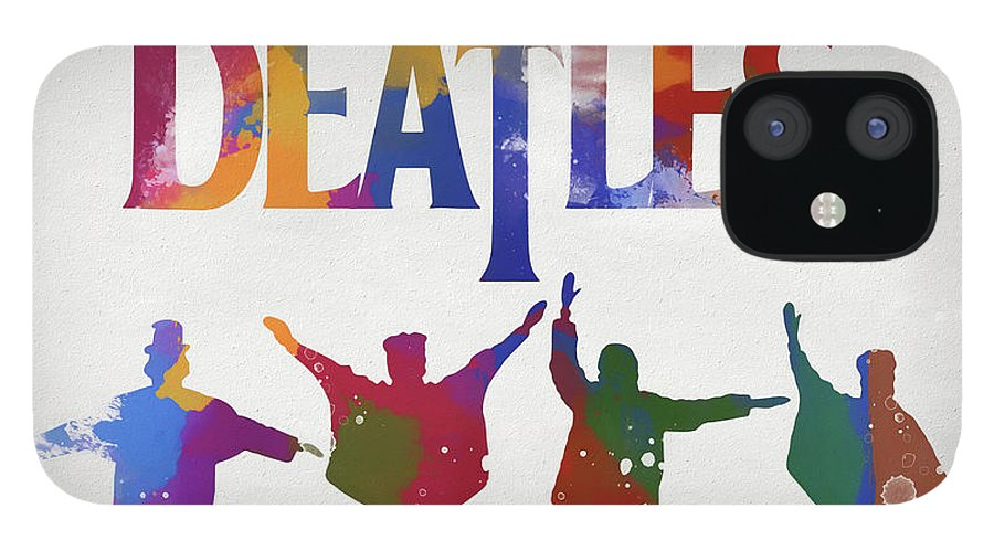 Beatles Watercolor Poster IPhone 12 Case featuring the painting Beatles Watercolor Poster by Dan Sproul
