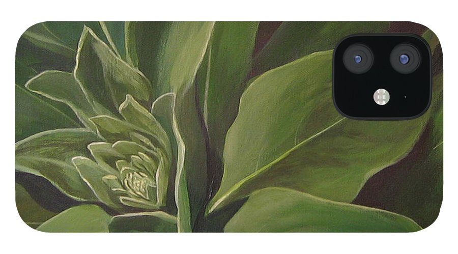 Closeup Of Mullein Plant IPhone 12 Case featuring the painting Beautiful Stranger by Hunter Jay