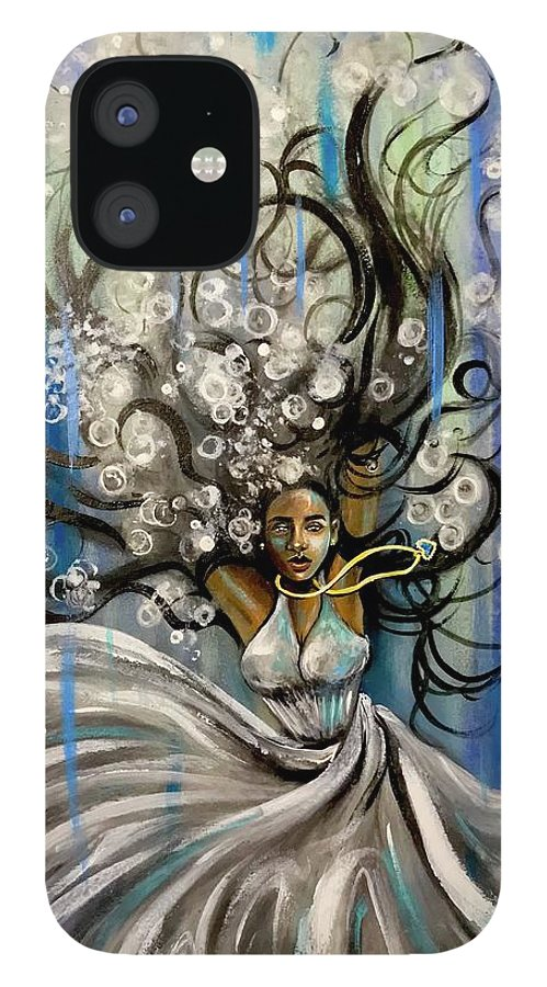 Artist_ria IPhone 12 Case featuring the painting Beautiful Struggle by Artist RiA