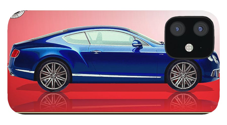 Wheels Of Fortune By Serge Averbukh IPhone 12 Case featuring the photograph Bentley Continental GT with 3D Badge by Serge Averbukh
