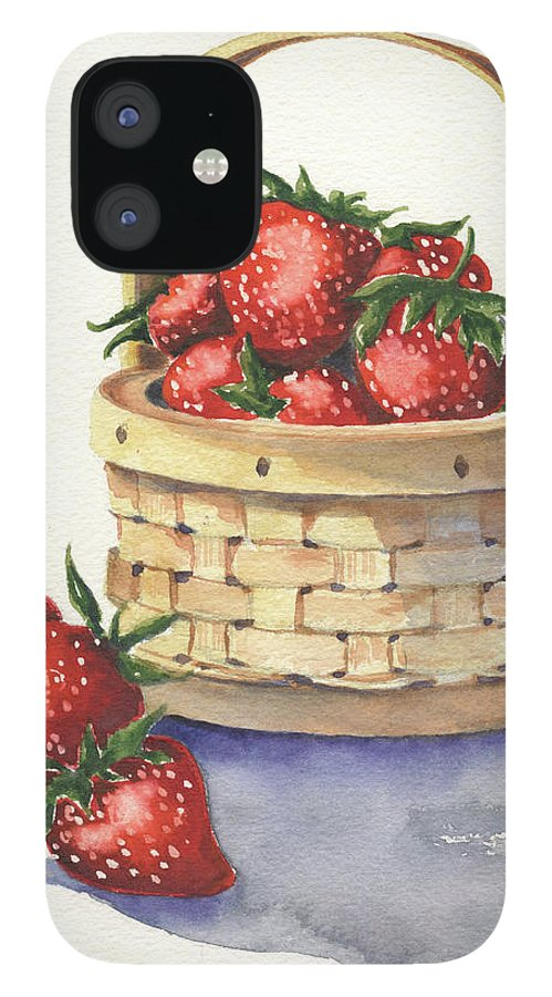 Berry IPhone 12 Case featuring the painting Berry Nice by Marsha Elliott