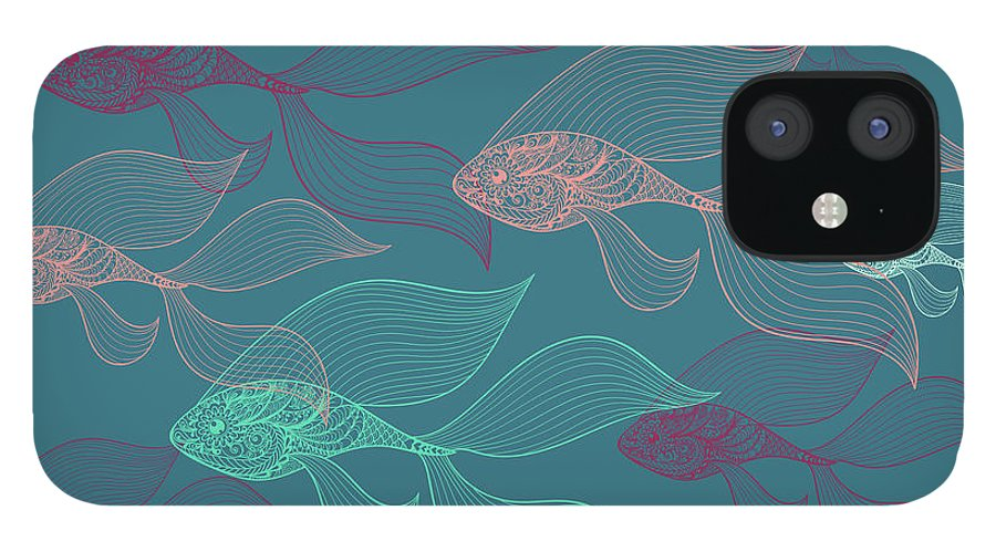 Dolphins IPhone 12 Case featuring the photograph Beta Fish by Mark Ashkenazi