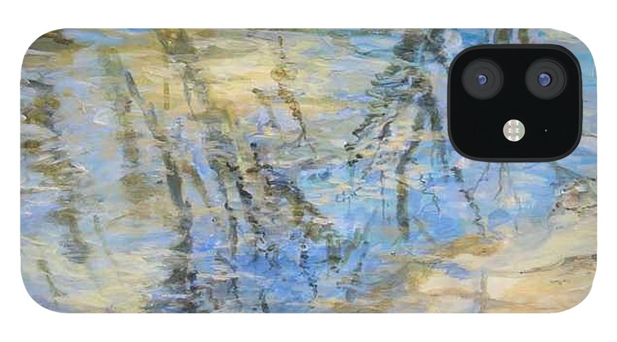 Water IPhone 12 Case featuring the painting Big Creek by Denise Ivey Telep
