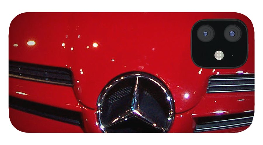 Picture IPhone 12 Case featuring the photograph Big Red Smile - Mercedes-Benz S L R McLaren by Serge Averbukh