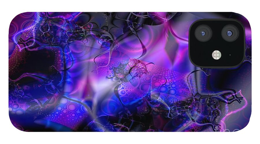 Bioluminescence IPhone 12 Case featuring the digital art Biolumineon by Ron Bissett