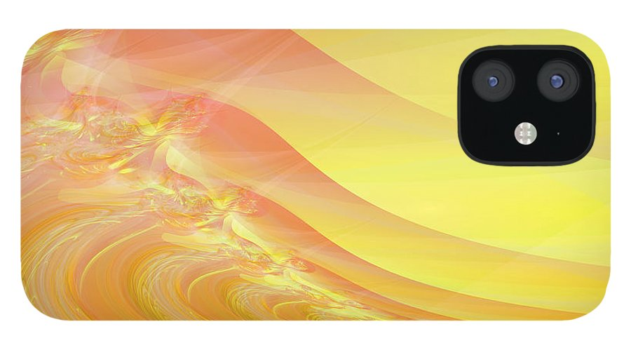 Dunes IPhone 12 Case featuring the digital art Bloody Dunes by Frederic Durville