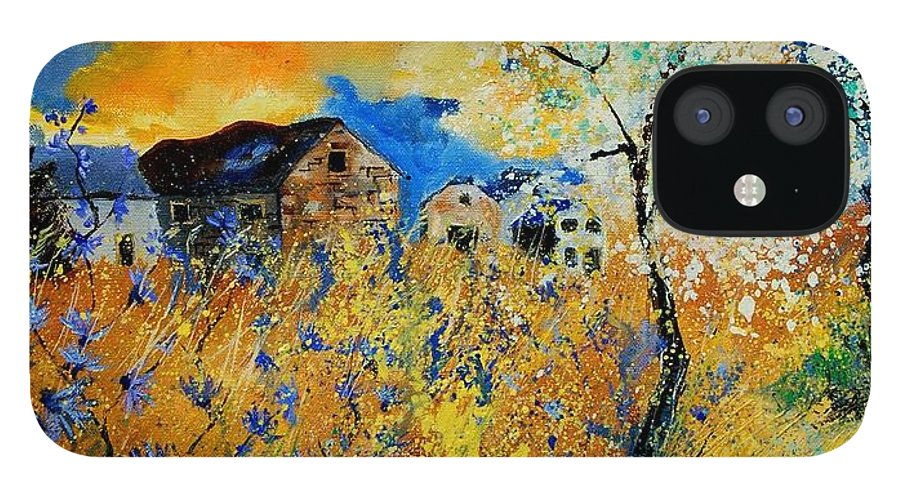 Poppies IPhone 12 Case featuring the painting Blooming trees by Pol Ledent