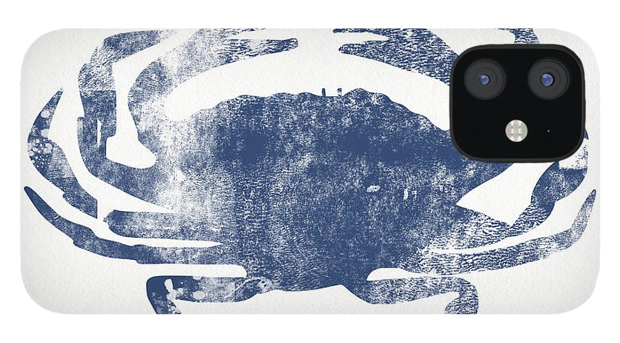 Cape Cod IPhone 12 Case featuring the painting Blue Crab- Art by Linda Woods by Linda Woods