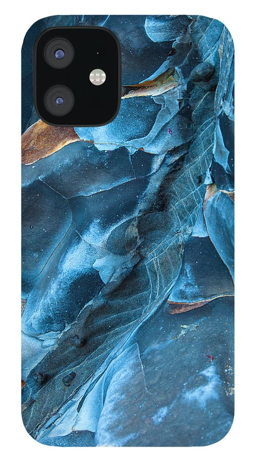 Abstract IPhone 12 Case featuring the photograph Blue Pattern 1 by Jonathan Nguyen