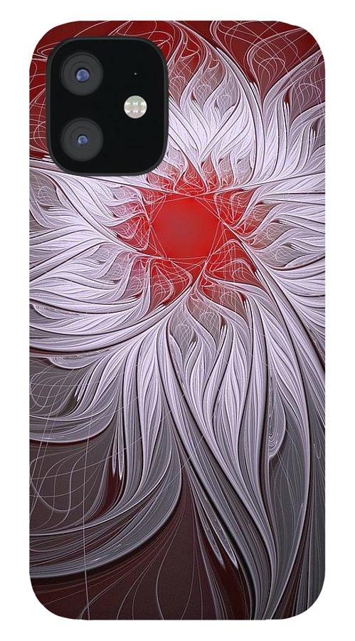 Digital Art IPhone 12 Case featuring the digital art Blush by Amanda Moore
