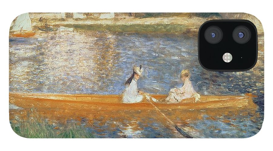 Boating On The Seine IPhone 12 Case featuring the painting Boating on the Seine by Pierre Auguste Renoir