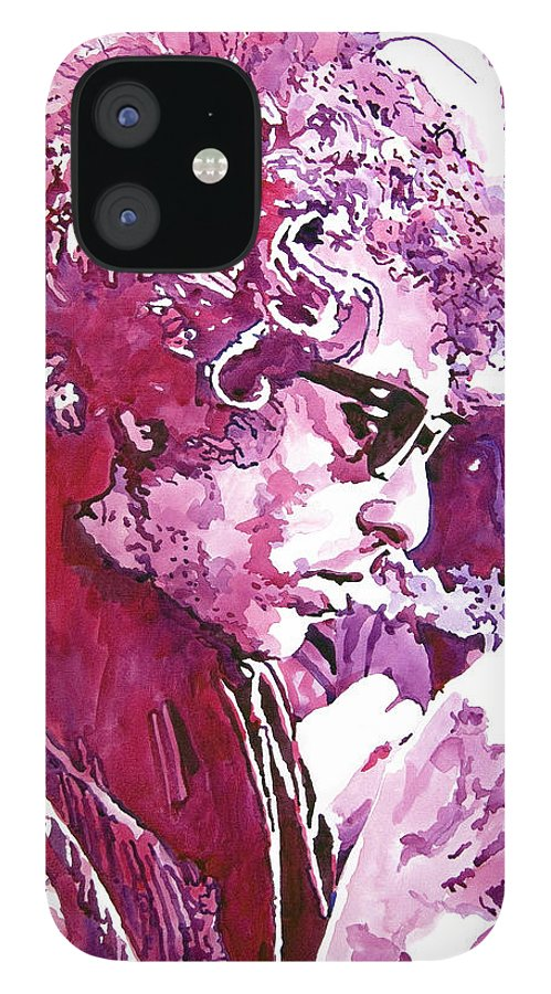 Bob Dylan IPhone 12 Case featuring the painting Bob Dylan by David Lloyd Glover