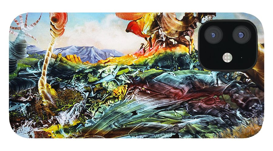 Landscape IPhone 12 Case featuring the painting Bogomil Landscape by Otto Rapp