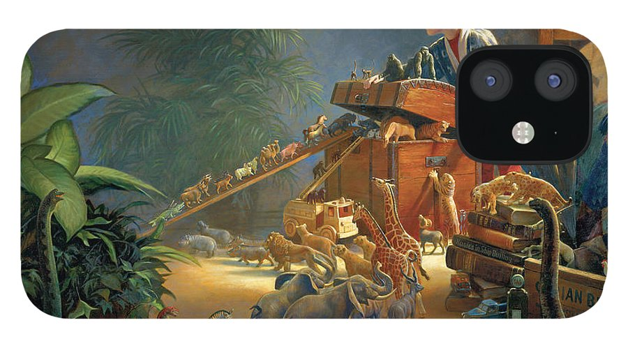 Noah's Ark iPhone 12 Case featuring the painting Bon Voyage by Greg Olsen